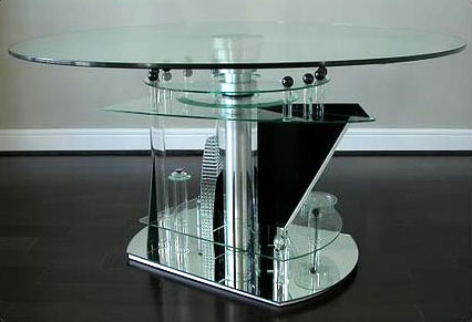 Ponzini Art Glass custom designed table